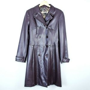 BCBG MaxAzria Brown Fully Lined Poly Trench Coat